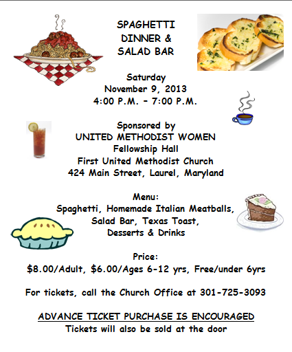 Spaghetti Dinner Fundraiser Flyer Template